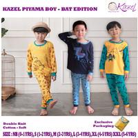 Kazel Setelan Piyama Baju Tidur Anak laki-laki Bat Edition 0-5 Tahun