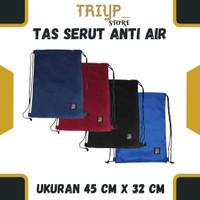 String Bag Tas Serut Ransel Olahraga Futsal Polos Anti Air Waterproof