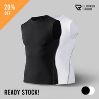 Baselayer Kaos Singlet Sleeveless Baju Sport Compression Shirt Pria