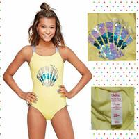 Baju Renang Anak Perempuan Remaja - JUSTICE Teen Flip Sequin Swimsuit