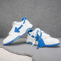Off White Out Of Office Low Top Sneakers Man White Blue
