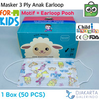 Masker Anak 3 Ply Headloop & Earloop isi 50 Pcs