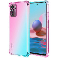 Shock Gradient Case Xiaomi RedMi Note 10 4G - Rainbow Clear Cover Fit