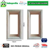LSTR01 - Lubang angin Loster kusen pintu ukuran standar kayu mahoni