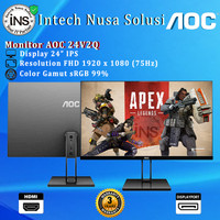 Monitor AOC 24V2Q 24 FHD 75Hz sRGB 99% HDMI DP 3Yr