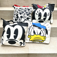 Tas Kanvas Tote Bag Mickey Donald Minnie Mouse canvas Bag