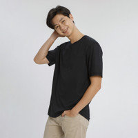 ALOWALO - Short Sleeve T-shirt Crew Neck Unisex - Jet Black