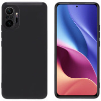 Solid TPU Case Xiaomi RedMi Note 10 Pro - Camera Black Soft Cover Fit