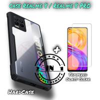 Case Realme 8 / Realme 8 PRO Armor Transparant Paket Tempered Glass