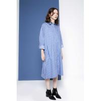 Gaudi Dress Oversize Wanita Mozzy Dress Blue
