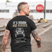Kaos Baju T shirt Jeep Rough Rugged Outdoor Adventure Jip - L