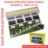 KIT POWER AMPLIFIER STEREO 400W SANKEN 2 AMPLI AUDIO NELC N-731