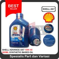 Oli Shell Advance AX7 4T 10w40 motor bebek 800 ml