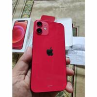 Iphone 12 mini 64 Gb   Iphone 12 Mini Red 64 Gb Garansi ibox Mulus