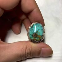 cincin batu akik pirus natural pirus persia iran