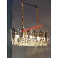 lampu gantung kristal panjang LG 4402/10 GD