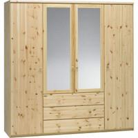 Lemari pakaian 4 pintu kayu jati belanda