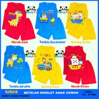 Baju Pakaian Setelan Stelan Set Singlet Bayi Anak Laki-Laki Cowok Cowo