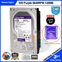 WD Purple 6TB Hardisk Internal CCTV WD62PURZ