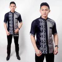 Kemeja Hem Baju Batik Grosir Krah Sanghai Lengan Pendek Aryanto 213