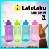 Botol Minum JUMBO 2 LITER - BZ 222 Tempat Air Minum 2000 ml Besar 2Ltr
