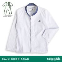 Crocodile KIDS KOKO 0073 Long White - Kids Koko Shirt Kemeja Koko