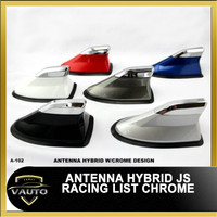 Antena Sirip Hiu Hybrid JS Racing List Chrome - Shark Fin Hybrid