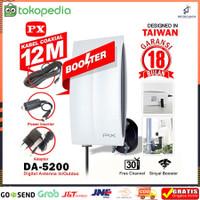 Antena TV Digital 4K High Gain PX DA 5200 Indoor Outdoor Kabel 12M
