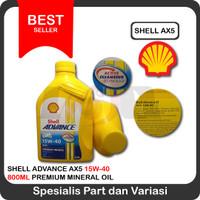 Oli Shell Advance AX5 15w40 motor bebek 800ml