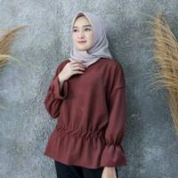 PROMO Baju Blouse Arlin Simple Top Model Kerut Wanita Murah