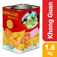 Khong Guan Kaleng 1600 gr - Biskuit 1.6kg bukan marie regal