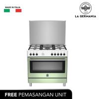 LA GERMANIA Free Standing Cooker 90 Cm (GREEN GUASTALLA RIS95C81CXV)
