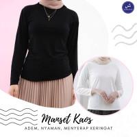 Manset Baju Daleman Gamis Bahan Kaos - Inner Muslimah Premium Polos - Hitam