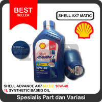 Oli Shell Advance Scooter Matic AX7 10w40 Motor Matik 1L