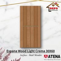Atena Espana Light Cream 30x60 Kw1 Keramik Matt Motif Kayu
