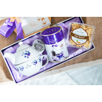 Tea Set Series Hampers Butterfly Pea with Cookies