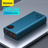 BASEUS ADAMAN 65W FAST CHARGING POWER BANK QUICK CHARGE TYPE C PD - Biru 20 000Mah