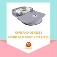 Omiland OBK5311 Kasur Bayi Lipat Kelambu Panda Series