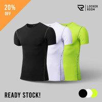 Baju Manset Lengan Pendek Baselayer Compression Shirt Pro Combat Sport