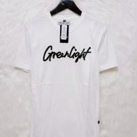 Baju Kaos Pria Distro Original Greenlight Tangan Pendek Terlaris - Putih, M