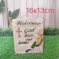 plakat resin pajangan gantung welcome rohani asli homemade promo murah