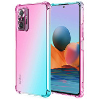 Shock Gradient Case Xiaomi RedMi Note 10 Pro - Rainbow Clear Cover Fit