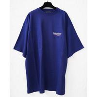 BALENCIAGA Wave logo oversized tshirt blue ( MAN ) Original 100%