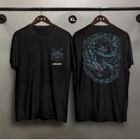 TP Kaos Distro Pria Samurai XL DB Atasan Pria T-shirt Pria
