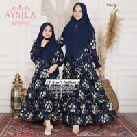 Baju Terusan Coupel Ibu Dan Anak Muslim Longdress Nafisah 3 Cp Syari