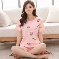 Azona store. piyama hp dewasa import/ stelan baju motif strawberry