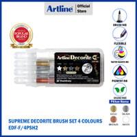 SPIDOL ARTLINE DECORITE BRUSH SET EDF-F/4PSH1