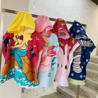 Handuk Renang / Mandi Ponco Import Microfiber Lembut bentuk Baju bayi