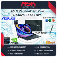 ASUS ZenBook Pro Duo UX482EG Touch i5-1135G7 8GB 512ssd 14.0FHD Touch