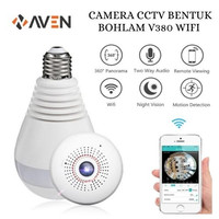 AVEN - IP Camera CCTV Bohlam V380 3MP Vision P2P Kamera Pengintai Wifi